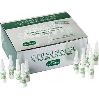 Germinal 3.0 tratamiento en ampollas antiaging sin parabenes caja 30 ampollas acción hidratante, nutritiva y reafirmante