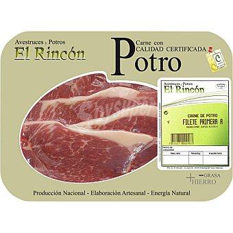 RINCON Filetes 1ªA de potro peso aproximado Bandeja 400 g