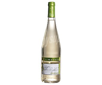 Primavera Vino blanco Chardonnay origen Extremadura Botella de 75 cl
