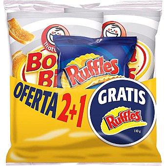 Matutano snack de cortezas de trigo con regalo de bolsa de 110 g de Ruffles al punto de sal pack 2 bolsas 84 g