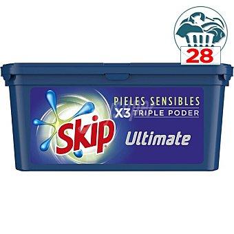 Skip Detergente en cápsulas triple poder pieles sensibles Ultimate 32 lavados 32 lavados
