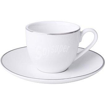 Unit Viena juego de cafe con 6 piezas color blanco y plata