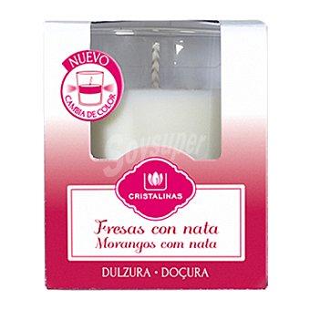 Cristalinas Vela ambientador fresa-nata Pack 1 unid