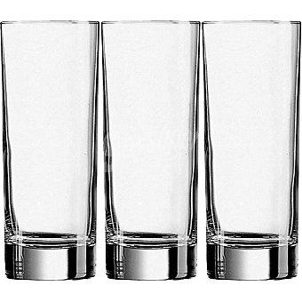 LUMINARC Islande vasos de vidrio altos 33 cl set de 3 unidades 33 cl