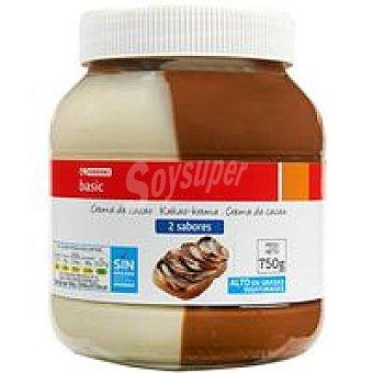 Eroski Basic Crema de cacao 2 sabores Bote 750 g