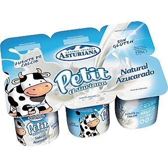 Central Lechera Asturiana Yogur infantil natural azucarado Pack 6 unidades 60 g