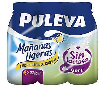Puleva Leche semidesnatada sin lactosa Mañanas ligeras 1 l