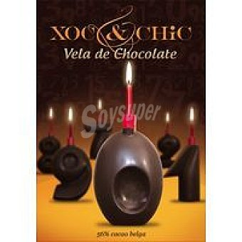 Xoc & Chic Vela de chocolate Nº 0 Pack 1 unid