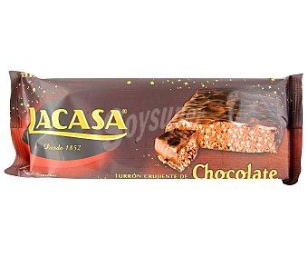 LACASA Turrón de praliné de chocolate, frutos secos y arroz inflado 250 gramos