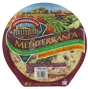 Casa Tarradellas Pizza estilo Mediterránea Envase 425 g