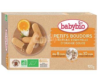 BabyBio Galletas biológicas sabor naranja a partir de los 8 meses dentición Caja 120 g