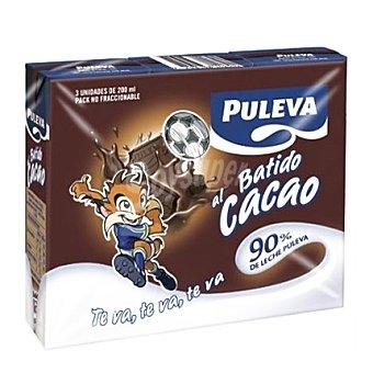 Puleva Batido de cacao 3 envases de 200 ml