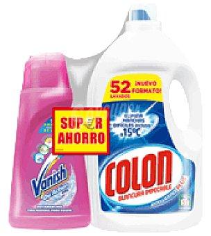 Vanish Detergente líquido 52 Lavados Colón + Quitamanchas 1 ud