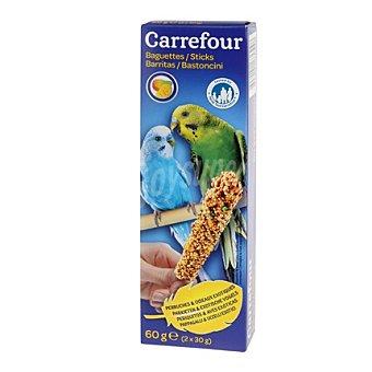 Carrefour Barritas periquitos con fruta Pack 2x60 gr