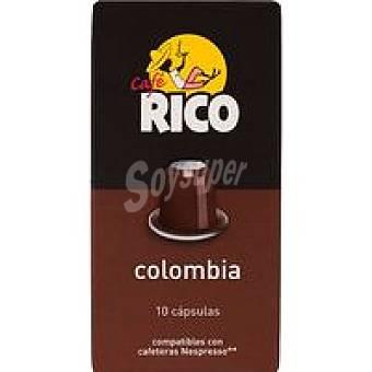 Rico Café Colombia en monodosis Paquete 50 g