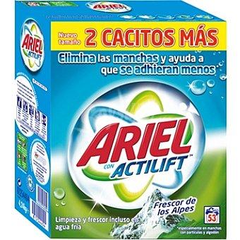 Ariel Detergente máquina polvo con actilift frescor de los Alpes Maleta 53 cacitos