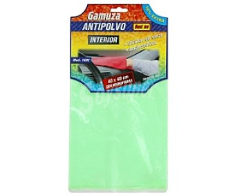 Rolmovil Gamuza antipolvo de 40x40 centímetros y de color verde, de microfribra (80% poliester y 20% poliamida) 1 unidad