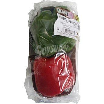 Pimiento bicolor rojo y verde ecológico Bandeja 400 g