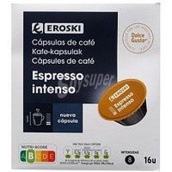 Eroski Café espresso intenso CDG Caja 16 monodosis