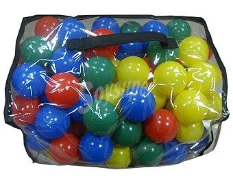 Euraspa Maletín con 100 bolas de plástico de diferentes colores 1 unidad