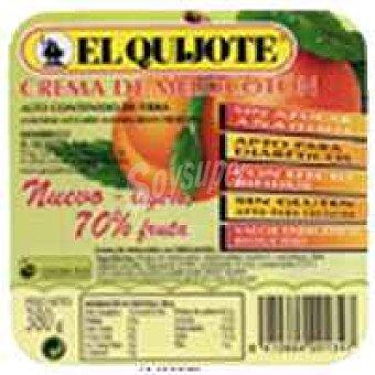 El Quijote Crema de melocotón sin azúcar Tarrina 380 g