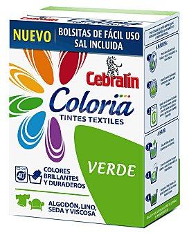 Cebralín Tinte verde con sal incluida Coloria Pack 1 dosis