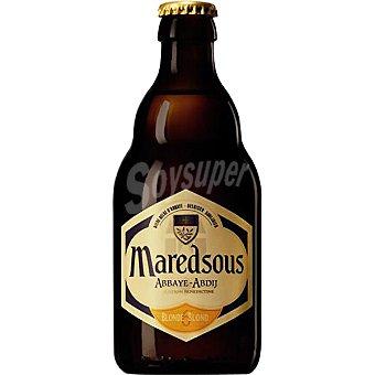 MAREDSOUS Blonde cerveza rubia belga botella 33 cl Botella 33 cl