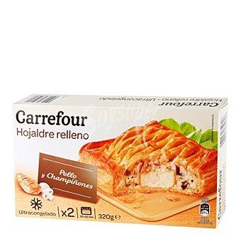 Carrefour Hojaldre relleno de pollo y champiñones Pack 2x160 g
