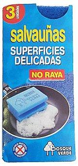 Bosque Verde Estropajo salvauñas azul (NO raya) Pack 3 u