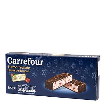 Carrefour Turrón trufado de fresas del bosque 200 g