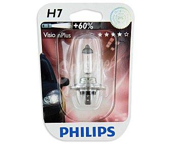 Philips Bombilla halógena para automóvil, modelo H7 Vision Plus, potencia: 55W 1 Unidad