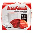 Café cápsula (compatible cafetera dolce gusto*(marca de grupo societe des produits nestle, S.A. no relacionada con cocatech, s.l.)) descafeinado Paquete de 16 unidades Cocatech