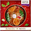 Roscón de Reyes tradicional congelado sin gluten y sin lactosa  envase 400 g Airos
