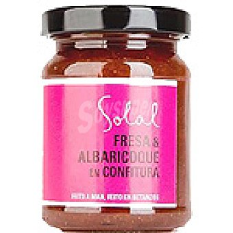 SOLAL Confitura de fresa y albaricoque Frasco 170 g
