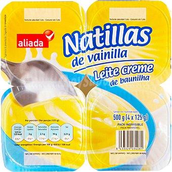 Aliada Natillas de vainilla Pack 4 unidades 125 g