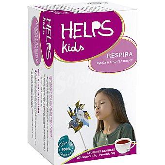 HELPS KIDS Respira Infusión infantil facilita la respiración en caso de resfriado Estuche 20 bolsitas