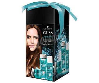 Gliss Schwarzkopf Estuche Ultimate Repair Million Gloss brillo duradero para cabellos apagados 250+300+50 mililitros