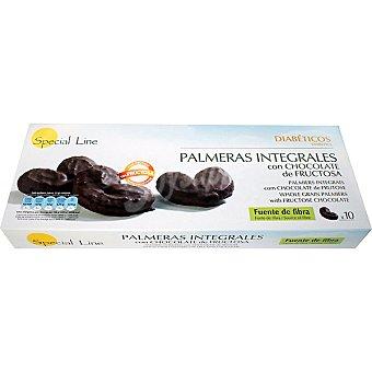 SPECIAL LINE Especial Diabéticos Palmeras integrales de chocolate 10 unidades envase 230 g 10 unidades
