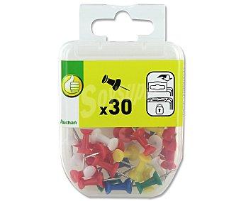 Productos Económicos Alcampo Caja de 30 agujas de señalización de diferentes colores para corchos y pizarras flexibles 1 unidad