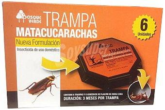 Bosque Verde Trampas cucarachas Paquete 6 u