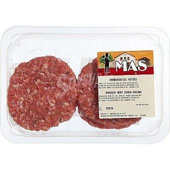 E.MAS Hamburguesas mixtas ternera-cerdo bandeja 360 g 4 unidades