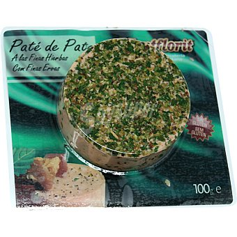 MONTFLORIT Paté de pato a las finas hierbas Envase 100 g