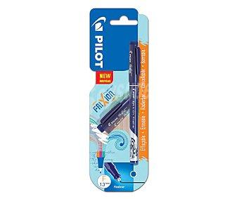 PILOT Frixion Bolígrafo borrable fineliner con punta de fibra de color azul, pilot