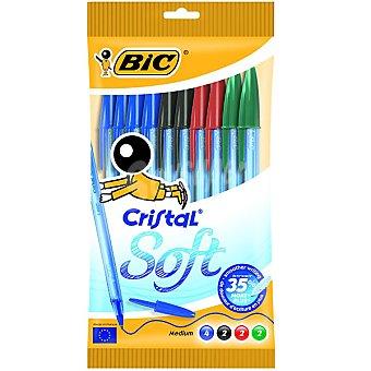 BIC Cristal Soft Pack 10 bolígrafos en colores variados Pack 10