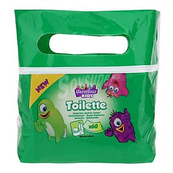 Carrefour Kids Toallitas Wc infantiles Pack 2x60 ud
