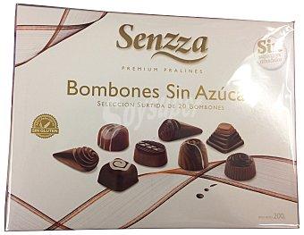 SENZZA Bombón surtido chocolate puro/leche sin azúcar Caja 20 u (200 g)
