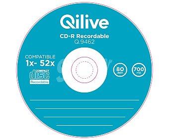 Qilive Pack de 10 CD grabable cd-r, 700MB, 80min, velocidad 1X-52X Q.9462
