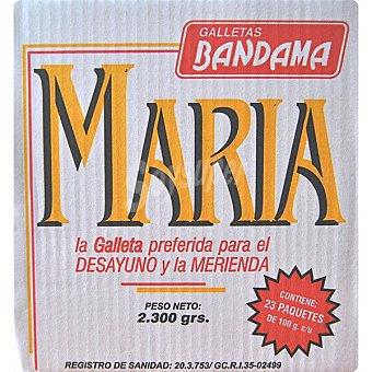 Bandama Galletas María 23x100g Caja 2,3 kg