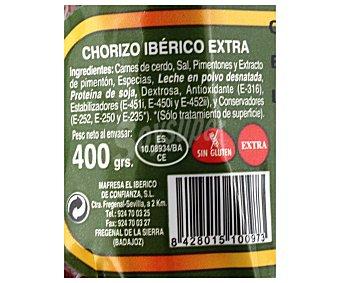 JARA Y ENCINAS Chorizo Ibérico Vela 400 Gramos
