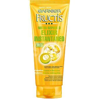 Fructis Garnier Mascarilla instantánea Nutri Repair 3 elixir con Oliva Aguacate y Karité tubo 200 ml repara y nutre al instante para cabello seco y dañado Tubo 200 ml